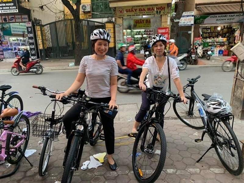 thuê xe đạp ở hồ tây
