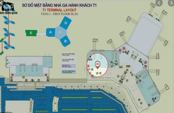 sơ đồ nhà ga t1 sân bay nội bài hà nội