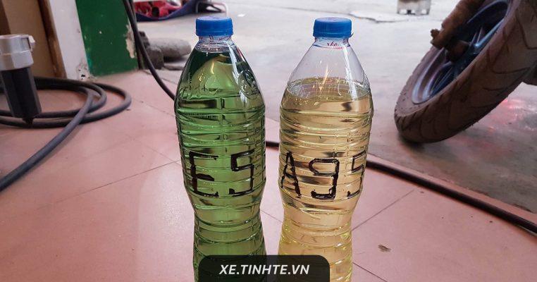 màu sắc xăng e5 và a95